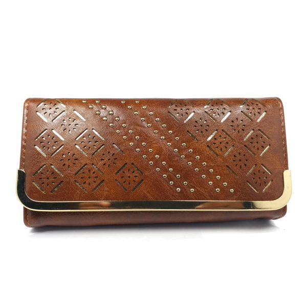 Brown Stylish Wallet Women Purse best Price @ido.lk