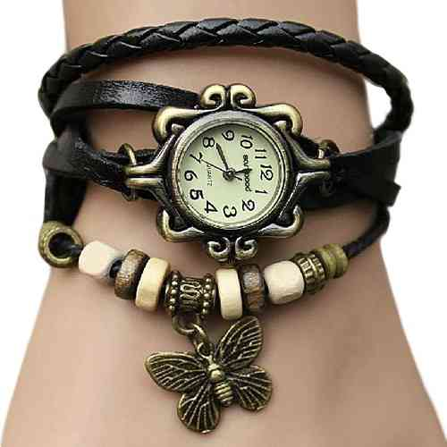 Women's Casual Vintage Wrist Watch Ladies Fashion Clothing Accessories