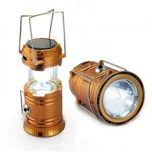 Rechargeable Camping Lantern With Solar Power Gadgets
