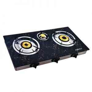 Amilex 3 Burner Glass Top Gas Cooker