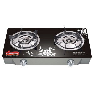 Glass Top Dual Burner Gas Cooker