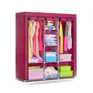 3 Door Portable Folding Wardrobe
