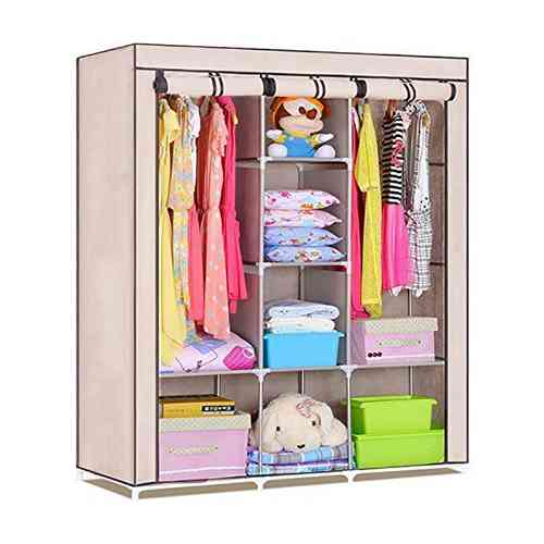 3 Door Portable Folding Wardrobe Home & Lifestyle