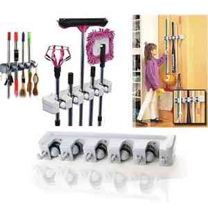 Wall Mounted Mop Rack Storage Holder Home & Lifestyle
