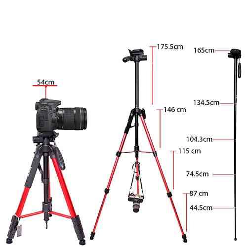 Jmary Professional Aluminium Tripod and Monopod for All DSLR Cameras Tripods