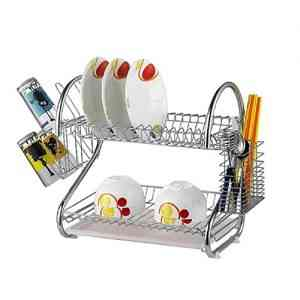 Stainless Steel 2 layer Dish Drainer Rack
