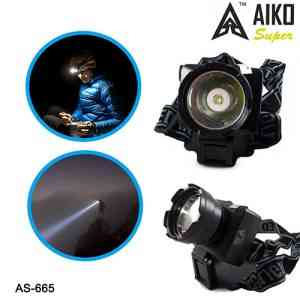 Aiko 1W Rechargeable Head Mounted LED Torch Lamp AS-665 Gadgets & Accesories