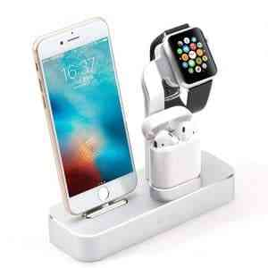 COTEetCI Aluminum 3IN1 Charger Multifunction Charging Stand For iPhone Chargers