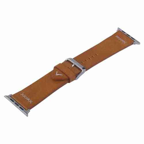 Coteetci WH5257 Leather Watch Band Apple Watch 44MM – Brown Gadgets & Accesories