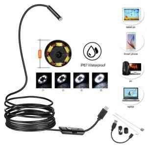 USB Android and PC 7mm Soft Tube Endoscope Wire Pinhole Camera – 2m Gadgets & Accesories