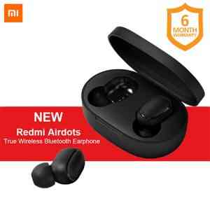 Xiaomi Redmi AirDots Wireless Bluetooth Headset – Black Earbuds and In-ear