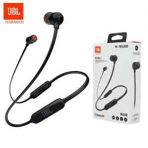 JBL Tune 110BT Wireless in-Ear Headphones Black Earbuds and In-ear