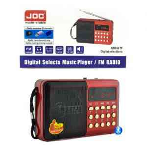 JOC Rechargeable USB and microSD Slot Mini FM Radio