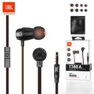 Original JBL T380A In-Ear Wired Earphones-Black Earbuds and In-ear