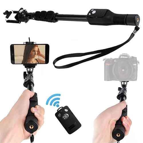 Yunteng YT 1288 Bluetooth Selfie Stick - Black, with Remote | ido.lk