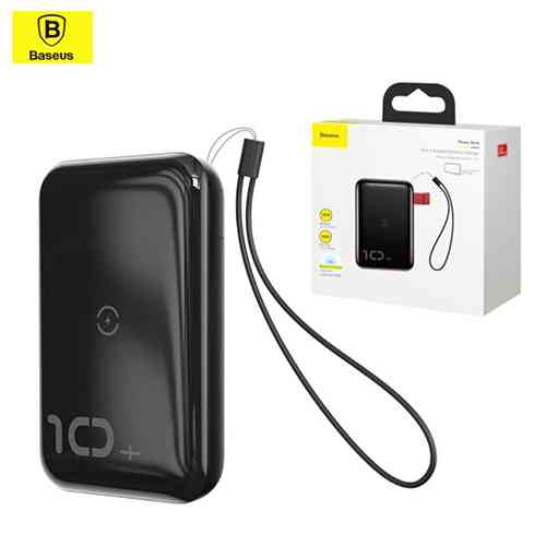 Baseus Mini S Bracket Power Bank 10000mAh 18W with Wireless Charger Qi 10W