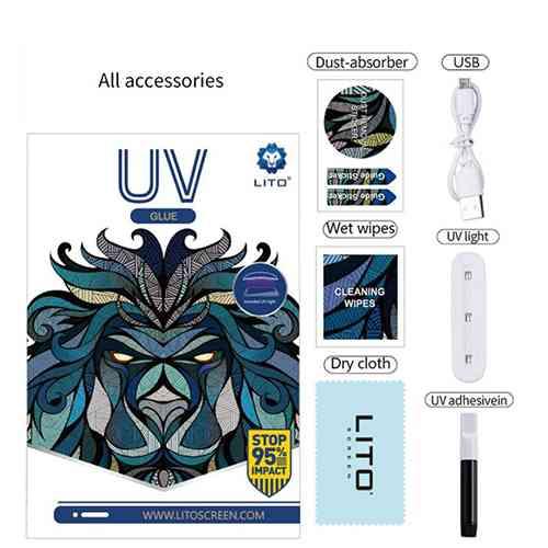 UV Liquid Full Glue Tempered Glass