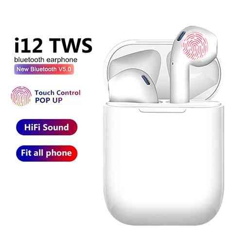 I12 Tws Wireless Earphones Mini Earbuds Bluetooth Airpods Ido Lk