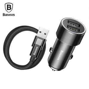 Baseus Small Screw 3.4A Dual USB Car Charger Car Care Accessories