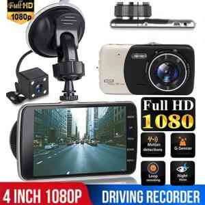 Full HD 4 Inch Car DVR Dual Lens Dash Camera Video Recorder with Night Vision DVR/Dash Camera
