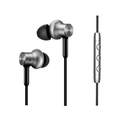 MI Circle Iron Hybrid Earphone Headphone Headset Earbud in-Ear Remote & Mic-Silver Pro HD Version