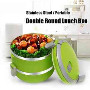 2 Layers Stainless Steel Lunch Box Kitchen & Dining