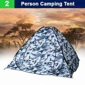 2 Person Camping Tent white camouflage