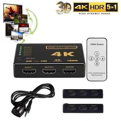 5 Port 4K HDMI Switch Switcher Splitter Box Computer Accessories