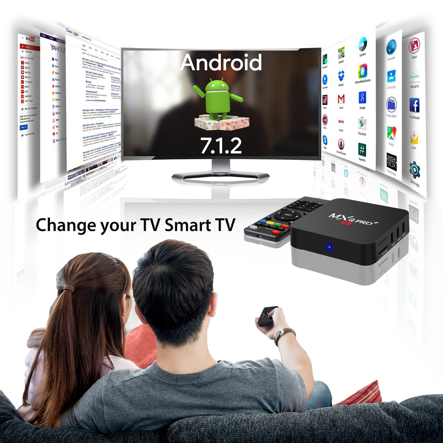 Image result for mxq pro 4k android tv box 2gb/16gb