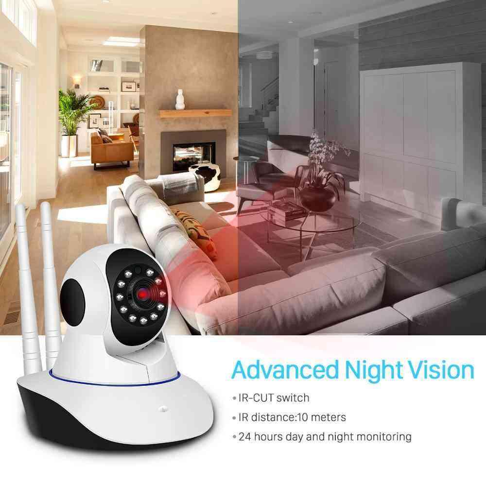 BESDER 1080P H.265 Home Security IP Camera Dual Antenna WiFi Camera Audio Record 360 degrees Baby Monitor HD Mini IP Camera CCTV