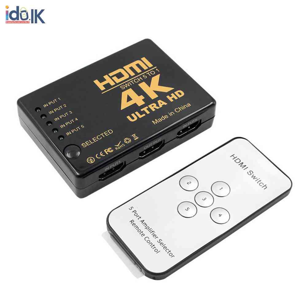 5 Port 4K HDMI Switcher Switch