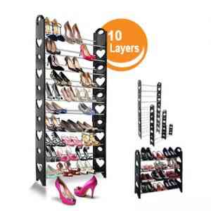 Stackable Shoe Rack 10 Layers Home & Lifestyle