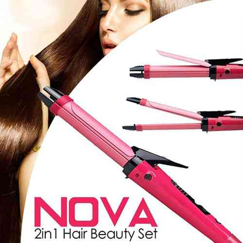 Hair Curler and Hair Straightener Nova 2 in 1 Hair Beauty Set