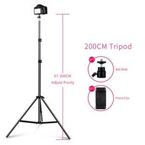 Selfie Light Stand Tripod 200CM Tripods