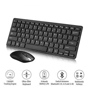 Wireless Slim Keyboard and Mouse 2.4GHZ GKM-901 Computer Accessories