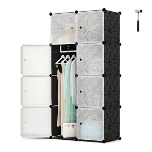 8 Door DIY Plastic Portable Wardrobe Storage Organizer