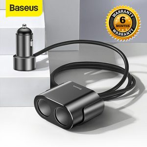 Baseus Car Cigarette Lighter Socket Splitter 12V-24V Dual USB Car Charger Car Care Accessories