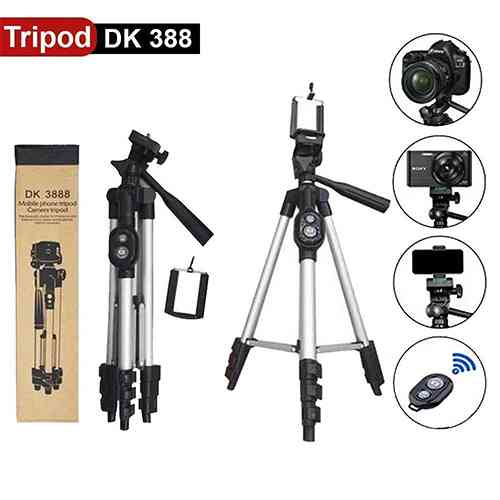 Mobile Tripod Stand With Bluetooth Remote