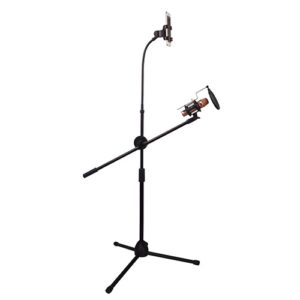 Microphone Stand With Phone Holder Tripods