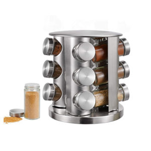 Stainless Steel Spice Rack 12pcs Kitchen & Dining