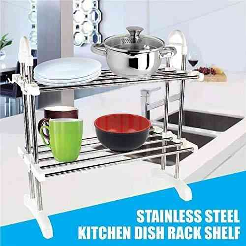 Stainless Steel 2 Layer Dish Rack Kitchen & Dining