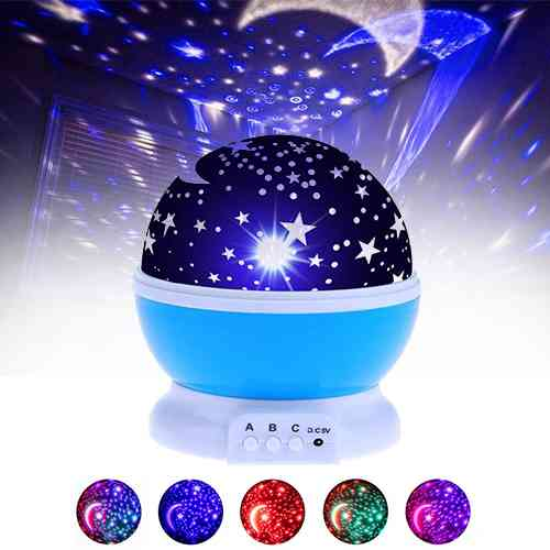 Star Master LED Rotating Night Light Gadgets & Accesories