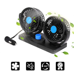 12V Dual Head Fan for Any Vehicle Car Care Accessories