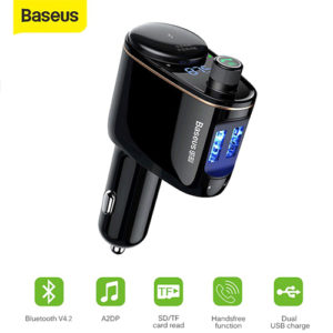 Baseus Locomotive FM Transmitter Bluetooth MP3 Vehicle Charger Car Care Accessories