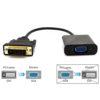 DVI to VGA Adapter WAWPI Male to Female Adapter Computer Accessories