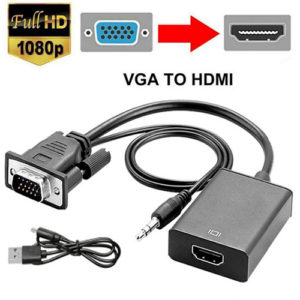 VGA to HDMI Converter Cable with Audio Support 1080P Computer Accessories