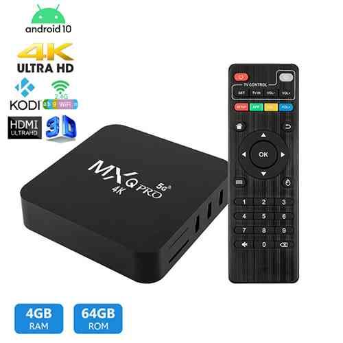 Android Smart Tv Box MXQ Pro 4k 4GB RAM 64GB ROM Android TV Box