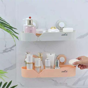 Bathroom Wall Plastic Shelf Home Accessories