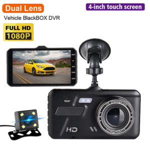 Car DVR Touch Camera 4″ IPS Dual Lens Car FHD 1080P DVR/Dash Camera