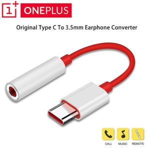 Oneplus Type-C To 3.5mm Aux Audio Earphone Jack Cable Mobile Accessories